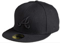Black on Black Atlanta Braves New Era Cap  Black