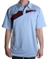 Scoundrel Knit SS Polo Shirt  Light Blue