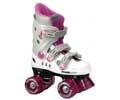 New Phoenix PinkWhite Kids Quad Roller Skates