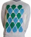 Argyle White Sweater