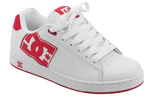 DC Mens Rob Dyrdek White/White/Athletic Red Shoe  Size UK11