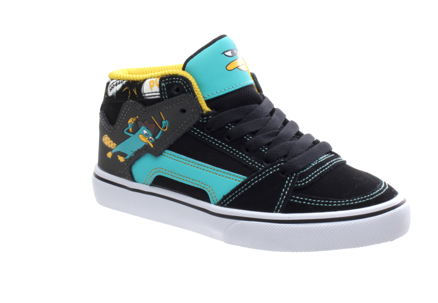 Etnies Disney Kids RVM Vulc Shoe - Black Blue Grey - UK 2