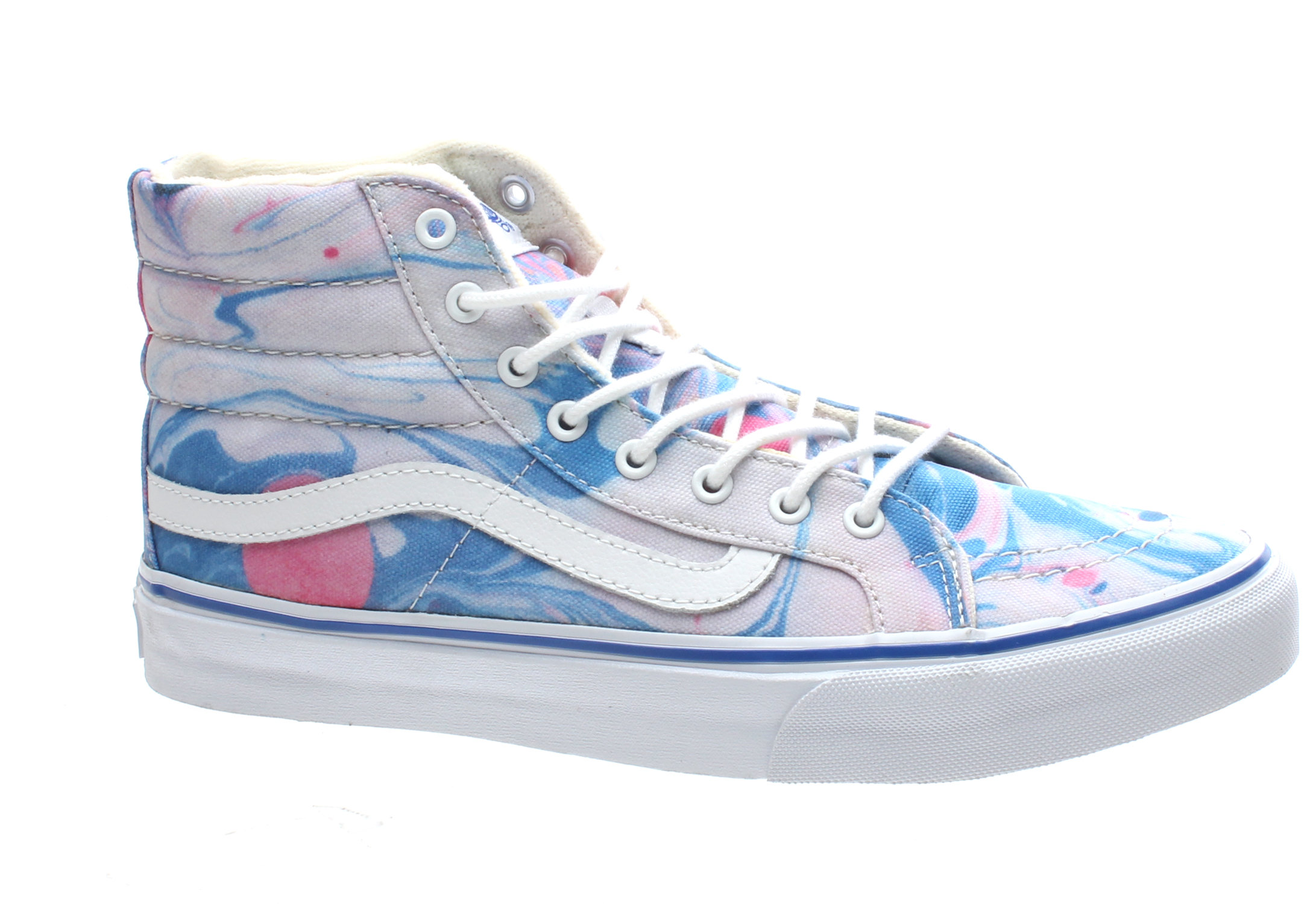 0043acb1e3 SK8 Hi Slim (Marble) True White Shoe QG3B7U